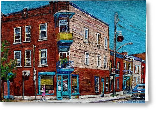 Wilensky's Light Lunch Plateau Montreal Greeting Card by Carole Spandau