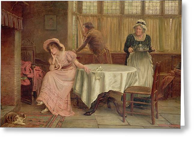 'will He Come?' Greeting Card by George Goodwin Kilburn