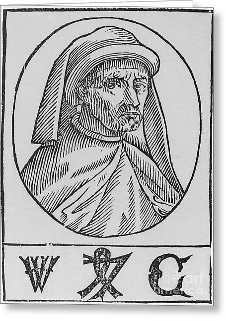 William Caxton, English Printer Greeting Card by Photo Researchers