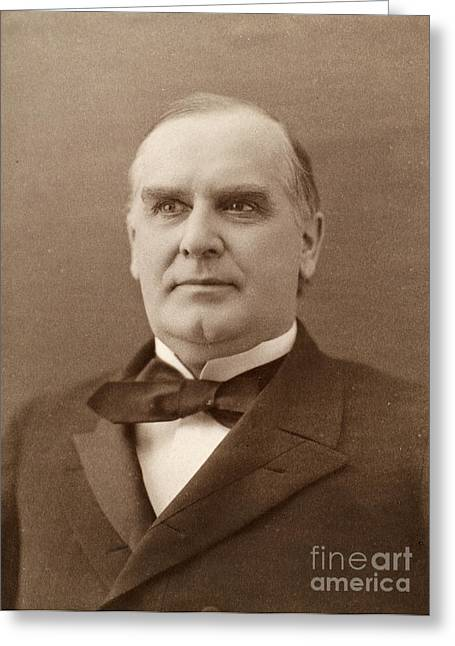 William Mckinley (1843-1901). 25th President Of The United States. Photographed In 1896 Greeting Card by Granger