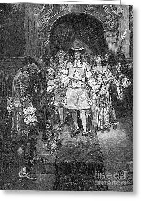 William Penn And Charles II Greeting Card by Granger