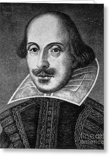 William Shakespeare, English Poet Greeting Card by Photo Researchers