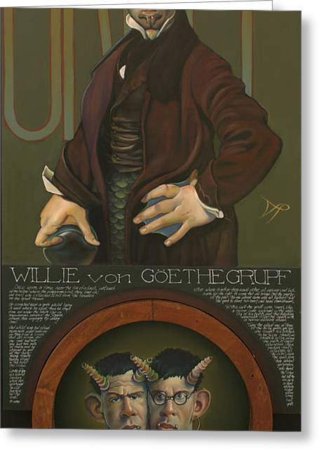 Willie Von Goethegrupf Greeting Card by Patrick Anthony Pierson