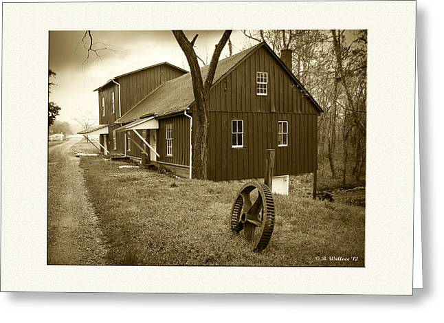 Williston Mill - Sepia Greeting Card by Brian Wallace