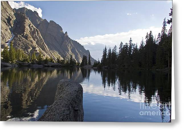 Willow Lake Whispering Greeting Card by Scotts Scapes