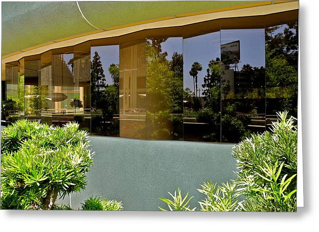 Wilshire Boulevard Reflections Greeting Card