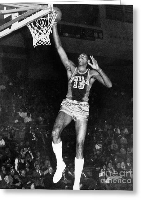 Wilt Chamberlain (1936-1996) Greeting Card