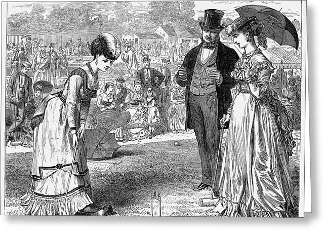 Wimbledon: Croquet, 1870 Greeting Card by Granger