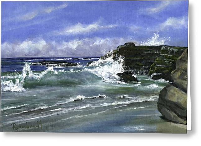 Wind And Sea II Greeting Card by Lisa Reinhardt
