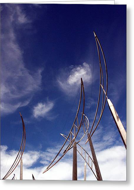 Wind Bows Greeting Card by Robert  Stephenson