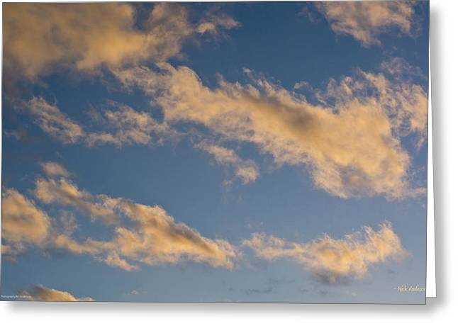 Wind Driven Clouds Greeting Card by Mick Anderson
