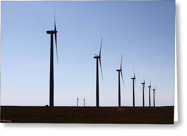 Wind Farm Greeting Card by Leroy McLaughlin