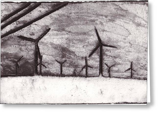 Wind Farming Greeting Card by Taylor Lee Bisbee