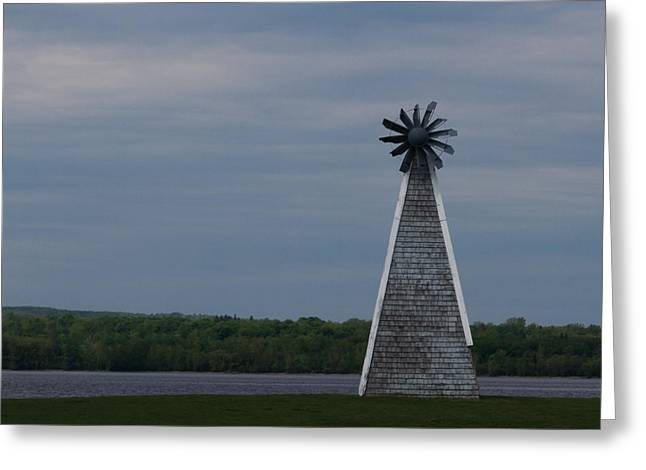 Greeting Card featuring the photograph Wind Mill by Josef Pittner