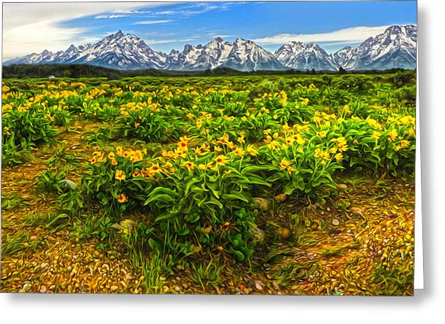 Wind River Range In West Central Wyoming - 03 Greeting Card