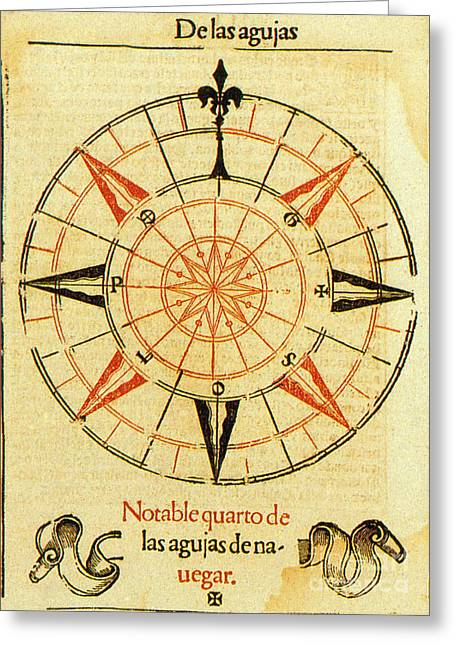 Wind Rose Greeting Card by Science Source
