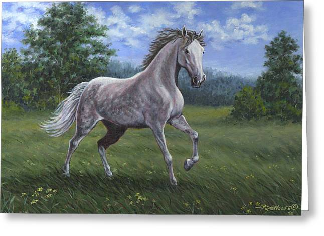 Wind Song Greeting Card by Richard De Wolfe