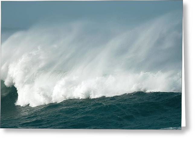 Wind Spray At Sea Greeting Card by Peter Chadwick