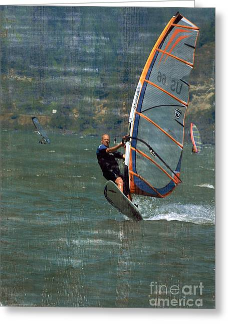 Wind Surfer Greeting Card