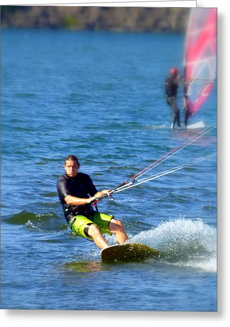 Wind Surfer Greeting Card by Cindy Wright