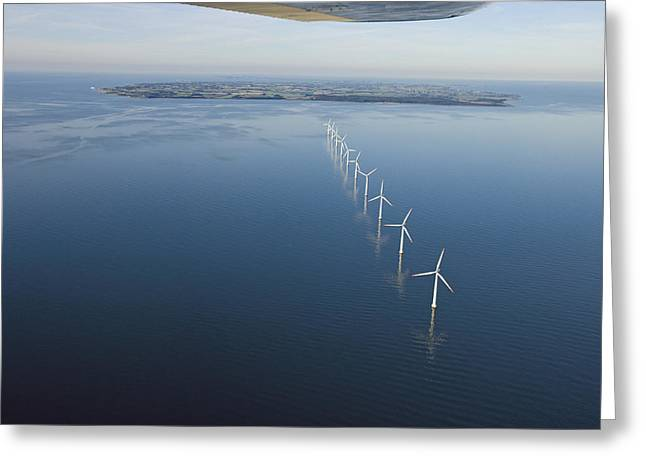 Wind Turbines Provide Energy Greeting Card by Andrew Henderson