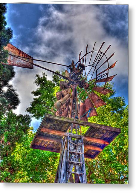 Windmill Hdr Greeting Card