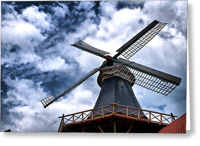 Greeting Card featuring the photograph Windmill In Northern Germany 2 by Edward Myers