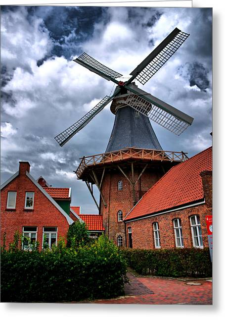 Greeting Card featuring the photograph Windmill In Northern Germany by Edward Myers