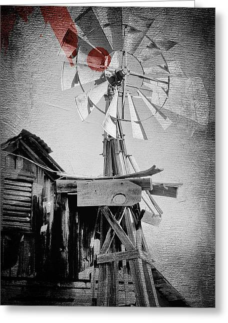 Windmill Greeting Card by James Bethanis