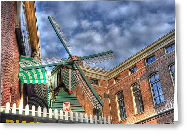 Windmill Of Amsterdam Greeting Card by Barry R Jones Jr