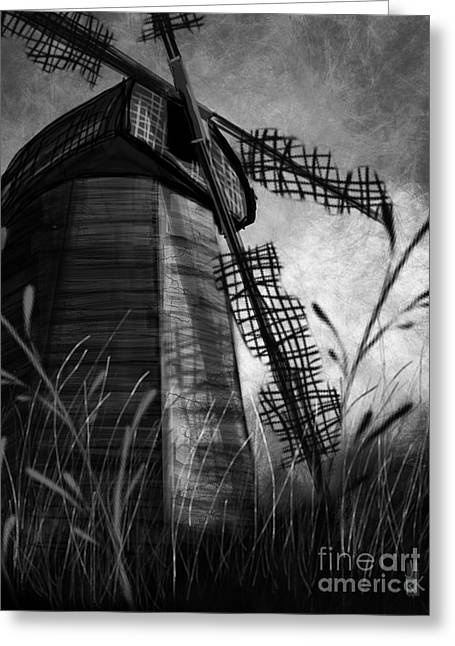 Windmill Wounded Greeting Card