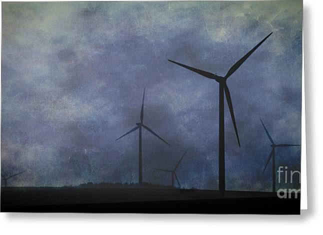 Windmills. Greeting Card