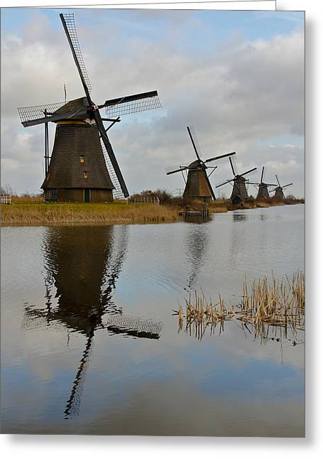 Windmills Greeting Card by Javier Luces