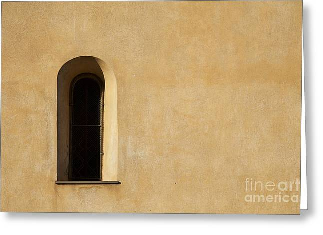 Window And Stucco Greeting Card by Charlotte Lake
