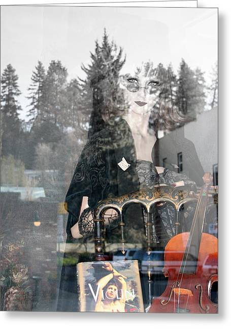 Greeting Card featuring the photograph Window Art by Holly Ethan