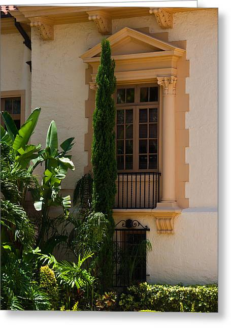 Greeting Card featuring the photograph Window At The Biltmore by Ed Gleichman