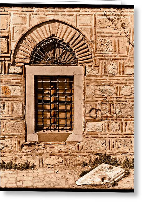 Athens, Greece - Window Break Greeting Card