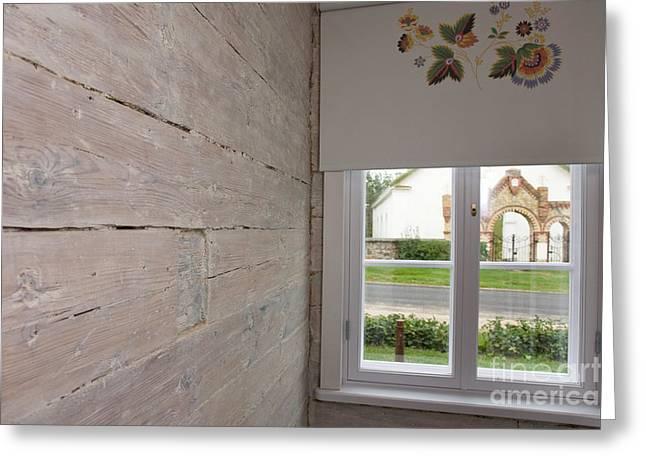 Window In Old Log Cabin Greeting Card by Jaak Nilson