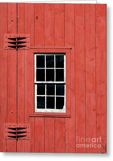Window In Red Wall Greeting Card by Sabrina L Ryan