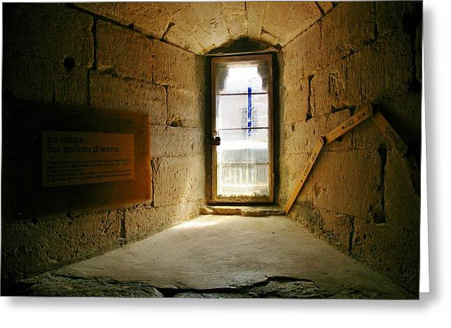 Window In The Abbey Of Senanque Greeting Card by Christine Burdine