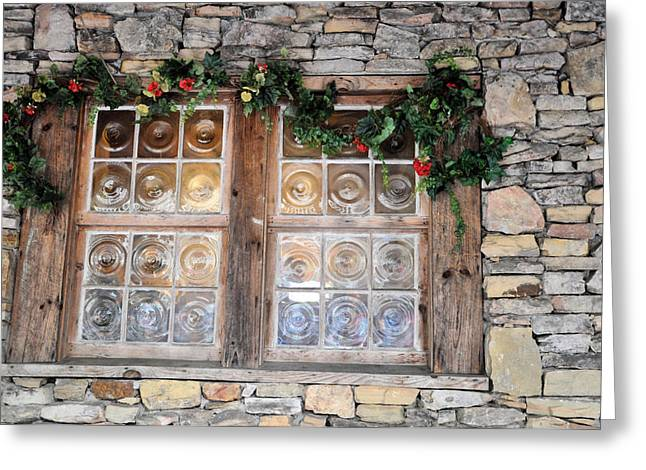 Window In The Old Mill Greeting Card by Jan Amiss Photography