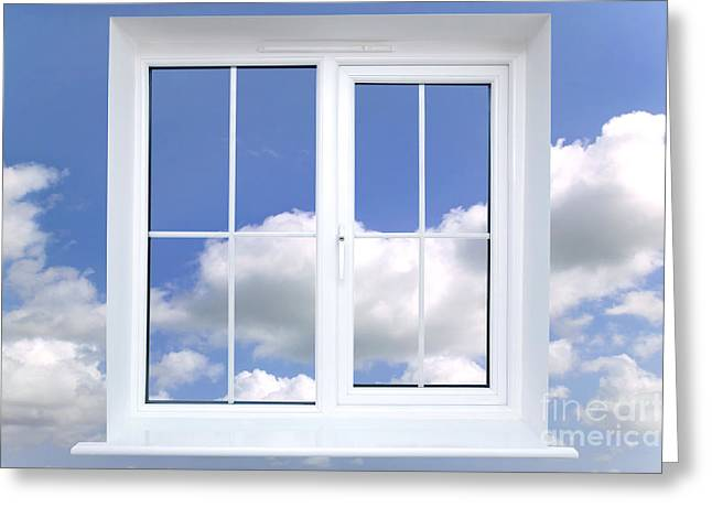 Window In The Sky Greeting Card by Richard Thomas