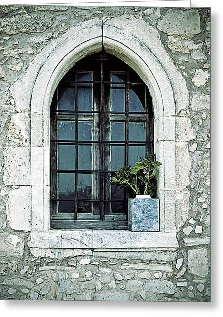Window Of A Chapel Greeting Card