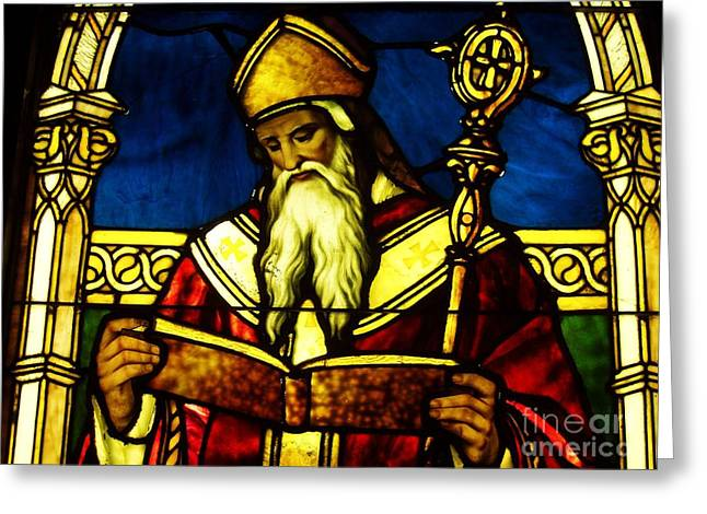 Window Of Saint Agustine Greeting Card by Pg Reproductions