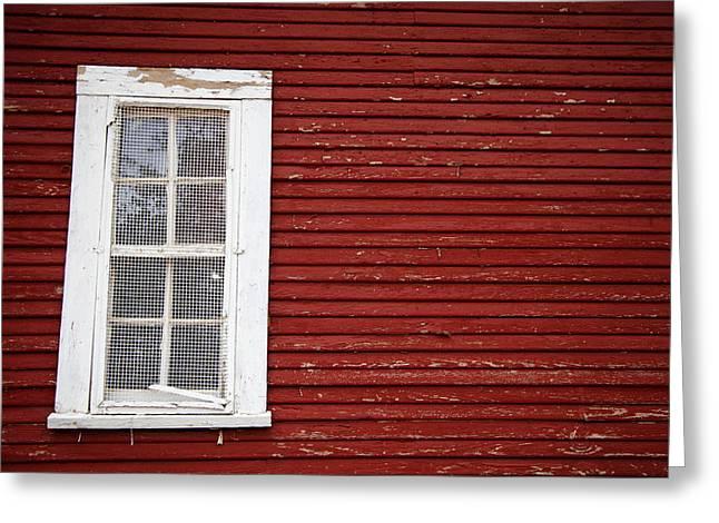 Window On A Barn Greeting Card by Toni Hopper