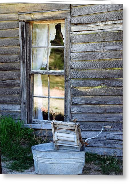 Window On Prairie Life Greeting Card by Judy Hall-Folde