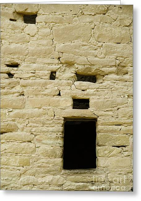 Window Opening In Old Brick Adobe Wall Greeting Card by Ned Frisk