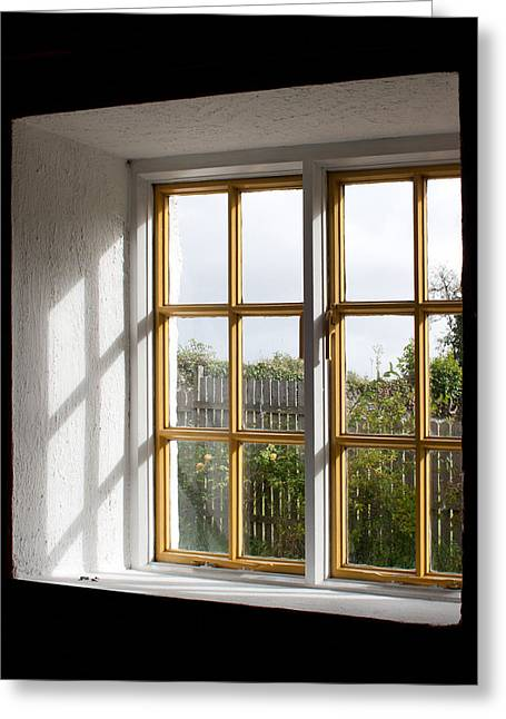 Window  Greeting Card by Semmick Photo