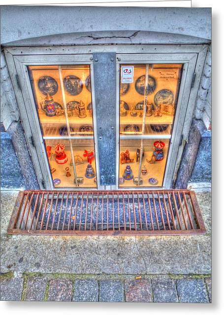 Window Shopping Greeting Card by Barry R Jones Jr