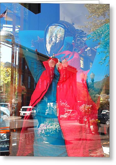 Window Shopping In Aspen Greeting Card